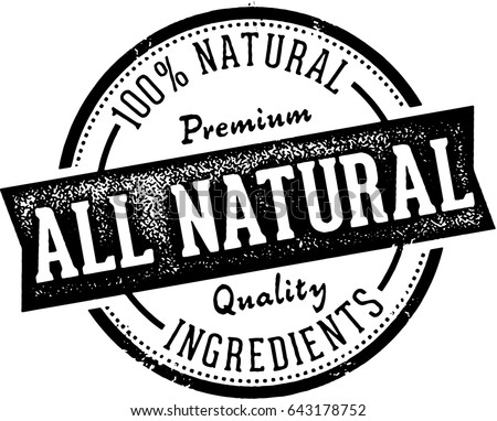All Natural Product Ingredients Label