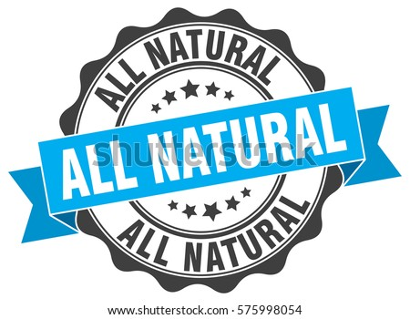 all natural stamp sticker