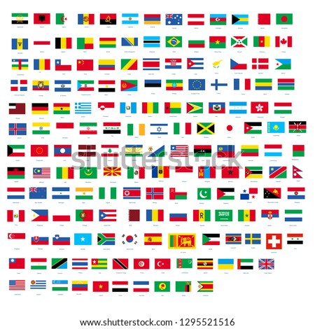 All official national flags of the world design