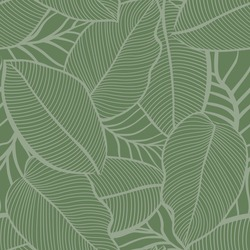 all over green seamless vector leaf pattern on green background