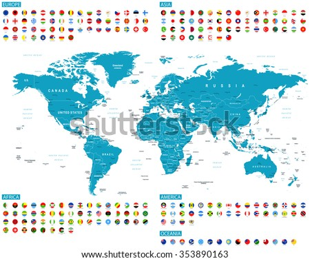 Round World Map - Download Free Vector Art, Stock Graphics & Images