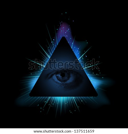 all seeing eye  eps10 vector