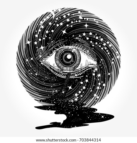 all seeing eye in space among