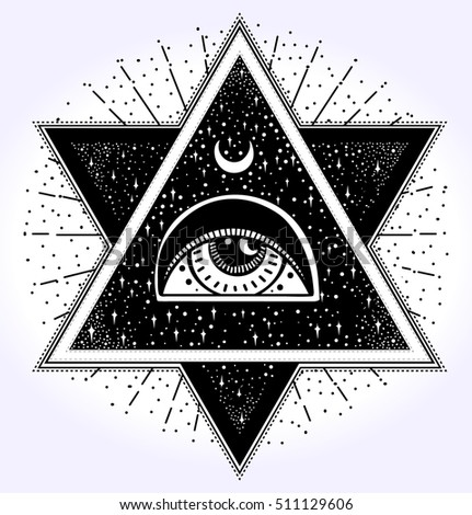 all seeing eye is on the