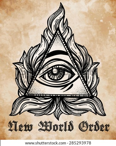 all seeing eye pyramid symbol