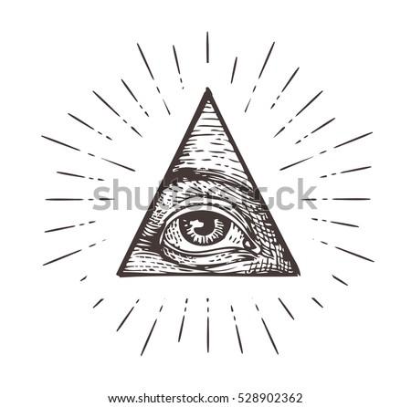 all seeing eye symbol vector