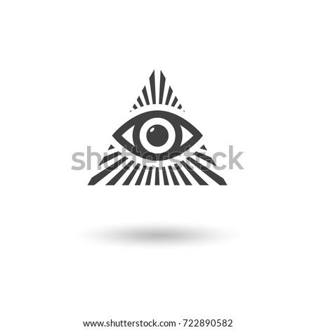 All Seeing Eye Symbol , vector illustration.