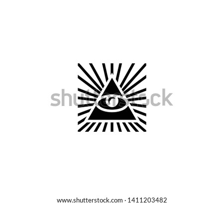 All seeing eye vector isolated illustration. All seeing eye icon