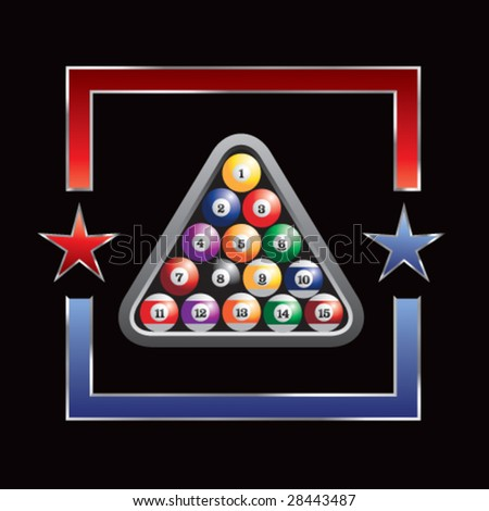 all-star billiard ball rack - stock vector