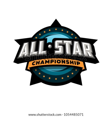 all star sports  template logo