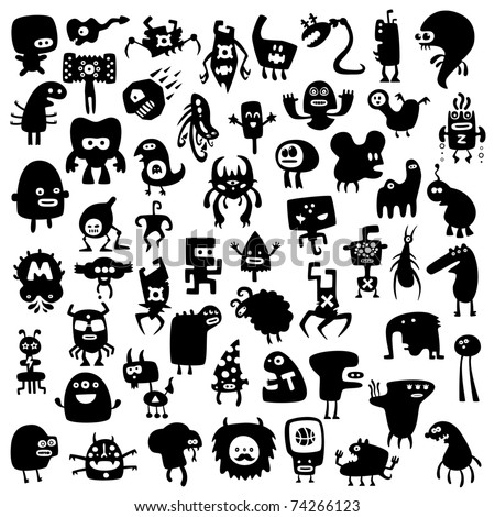All the monsters are unique and not repeated with other collections