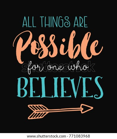 all things are possible for one