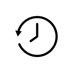 All time symbol. Design template vector