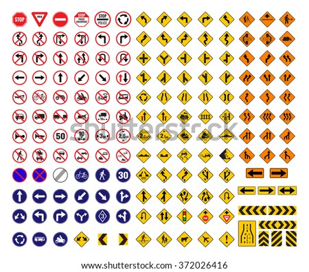 all traffic signs vector