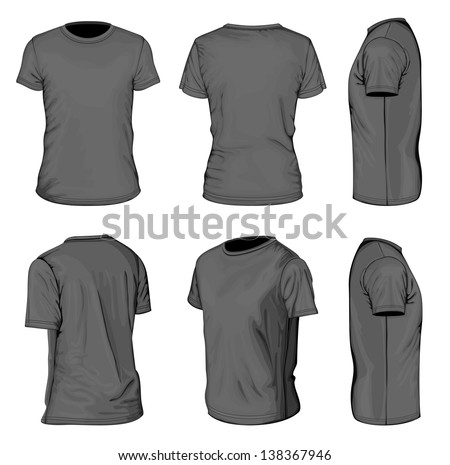 Tshirt Vector: Black Shirt - Download Free Vector Art, Stock ...