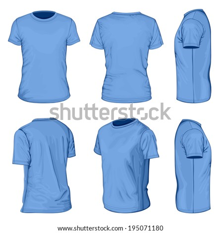 all views men's blue short