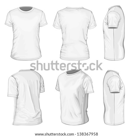 Tshirt Vector: Black Shirt