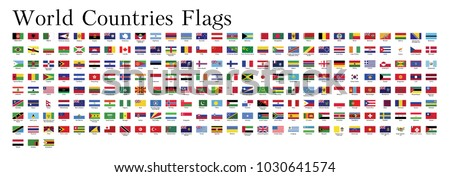 All world countries flags Vector Collection 1 Official colors EPS 10