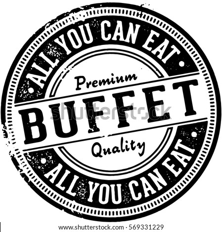 all you can eat buffet vintage...