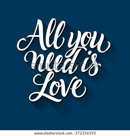 all you need is love 1