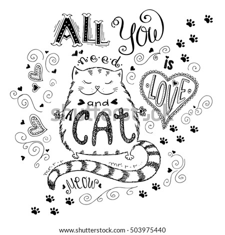 all you need is love and cat