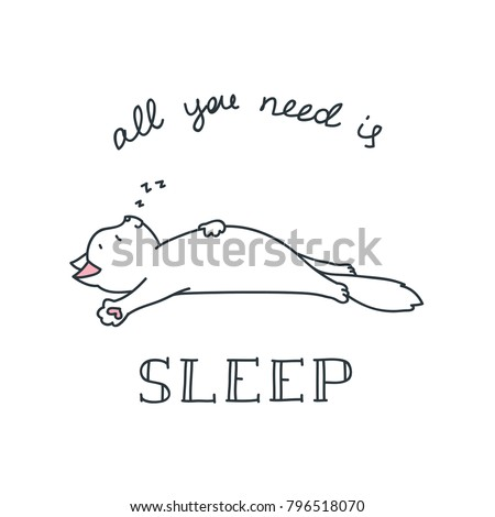 all you need is sleep doodle