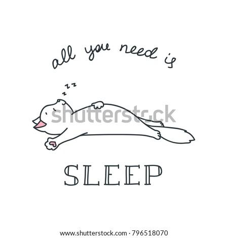 all you need is sleep doodle