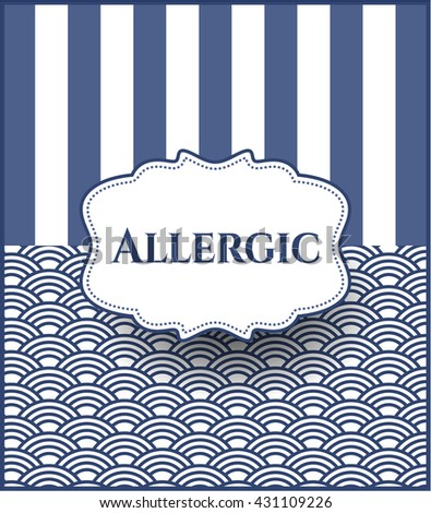Allergic retro style card or poster