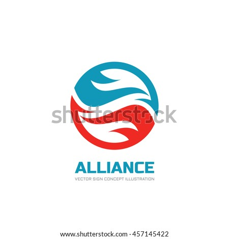 alliance   vector logo template