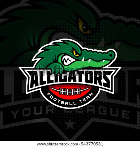alligator mascot for a football