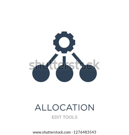 allocation icon vector on white background, allocation trendy filled icons from Edit tools collection, allocation vector illustration