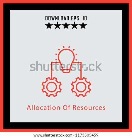 Allocation Of Resources  line icon