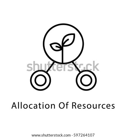 Allocation of Resources Vector Line Icon