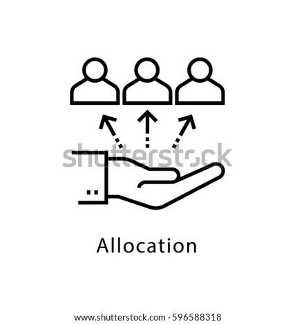 Allocation Vector Line Icon