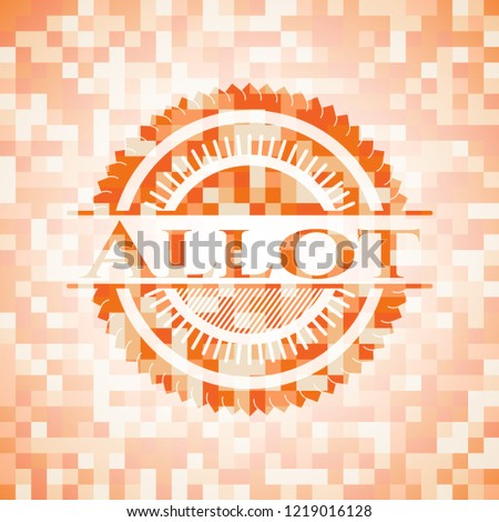 Allot orange mosaic emblem