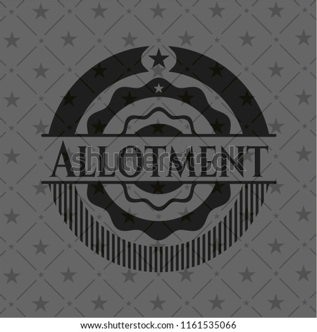 Allotment black emblem. Vintage.