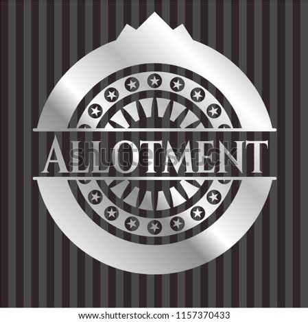 Allotment silver emblem