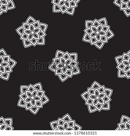 allover five petals star flower
