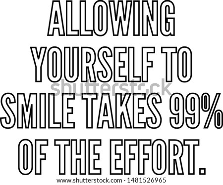 allowing yourself to smile
