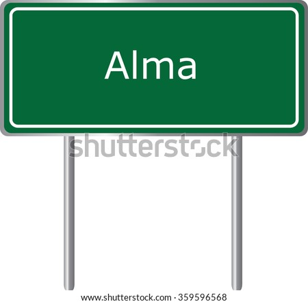 alma   arkansas  road sign