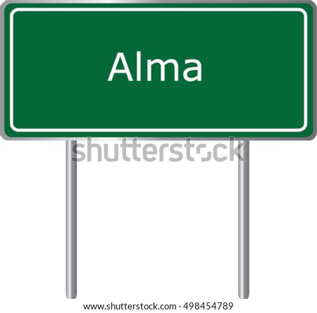 alma   georgia   road sign