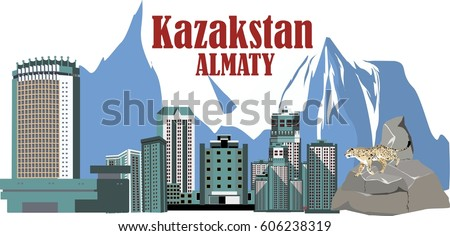 almaty city of kazakhstan view