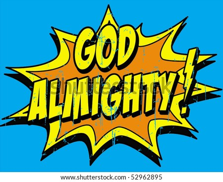 almighty - stock vector