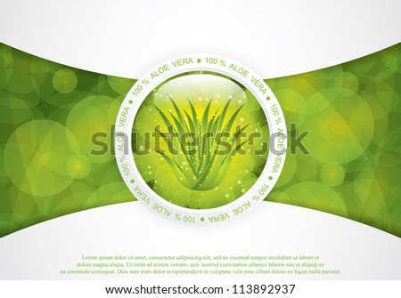 Aloe Vera concept design - stock vector