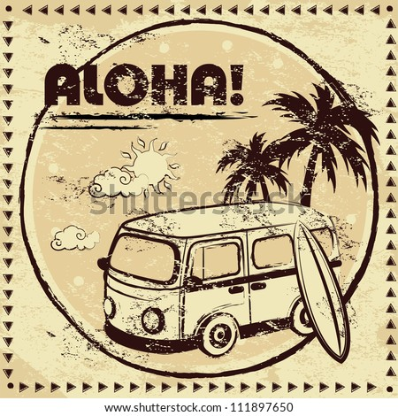 aloha bus background