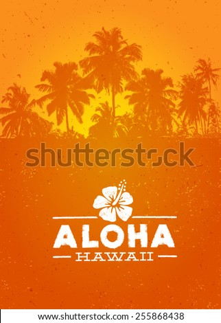 Aloha Hawaii Creative Summer Beach Tropical Vector Design Element