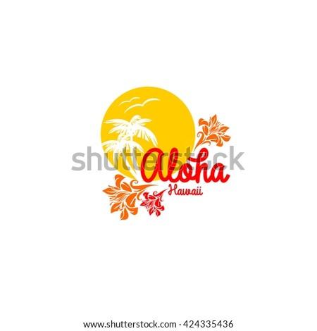 aloha hawaii creative vector