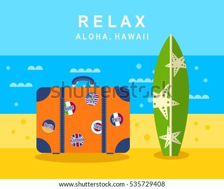 aloha hawaii poster  banner