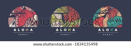 aloha hawaii set of three
