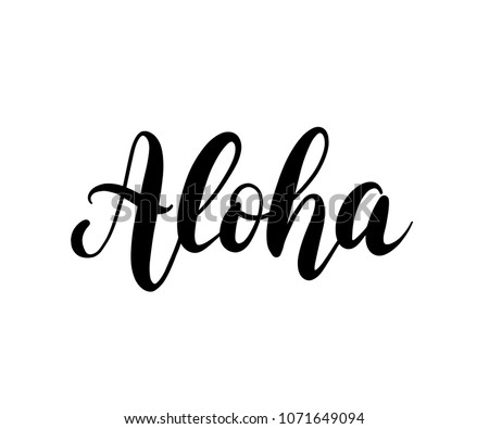Aloha Hawaii - Download Free Vector Art, Stock Graphics & Images
